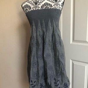 Lapis Blue strapless Dress/Skirt/Cover-Up.